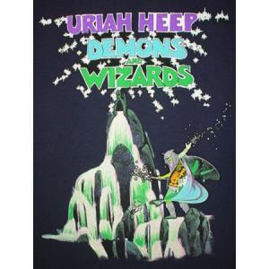 ユーライア・ヒープ/悪魔と魔法使い/URIAH HEEP/Tシャツ/紺/ロックTシャツ/バンドTシャツ|alternativeclothing|02