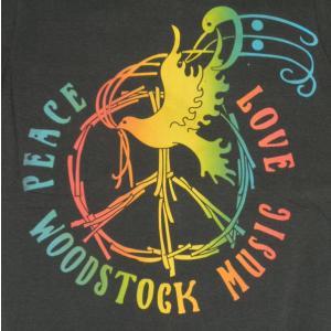WOOD STOCK/ウッドストック/LOVE&PEACE/ハト/ロックTシャツ/バンドTシャツ/チャコール/メンズ/レディース alternativeclothing 02
