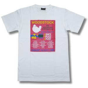 ウッドストック/WOODSTOCK/白/メンズ/レディース/ロックTシャツ/バンドTシャツ|alternativeclothing