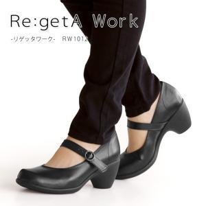 リゲッタ Re:getA Work RW-1012 ワンベルトヒールパンプス/フォーマルパンプス