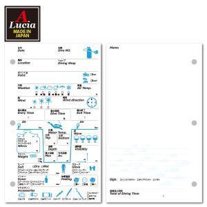 ログブック 3穴タイプ PADIバインダー規格 40枚 40ダイブ゛分 ナイトロックス対応 ログブックレフィル ブルー×ブラック dive-101|alucia