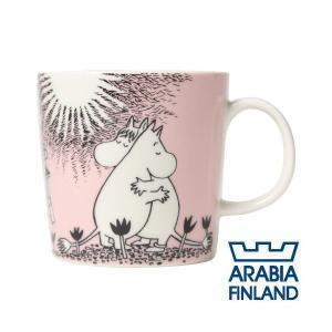 ARABIA アラビア Moomin ムーミン マグ ピンク 300ml Love マグカップ alude