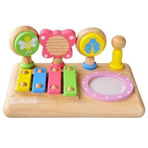エデュテの木のおもちゃ ファースト MUSIC SET  ベビーサイズの5種類の音あそびが詰まったミ...