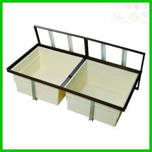 一般床下収納庫 2階用 1200型・樹脂コーナーパーツ仕様(ブロンズのみ) 浅型 2f1200bdj 2f1200sdj alumidiyshop