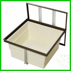 一般床下収納庫 2階用 600型・樹脂コーナーパーツ仕様 浅型 2f6a-1bj 2f6a-1sj alumidiyshop