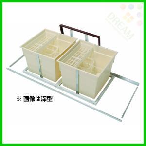 スライド床下収納庫600型(2連)・樹脂コーナーパーツ仕様 浅型 6adslbdj 6adslsdj alumidiyshop