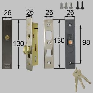 LIXIL/TOSTEM製玄関引戸用召合錠 店舗引戸内外錠セット ATAB910|alumidiyshop
