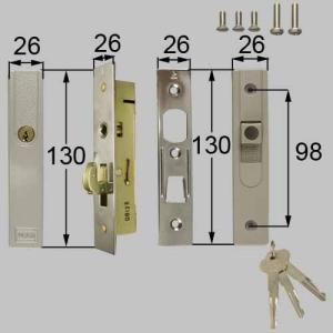 LIXIL/TOSTEM製玄関引戸用召合錠 店舗引戸内外錠セット ATAW910|alumidiyshop
