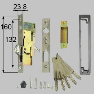 LIXIL/TOSTEM製玄関引戸用召合錠 引戸召合せ内外錠セット(MIWA U9シリンダー) AZWB501|alumidiyshop
