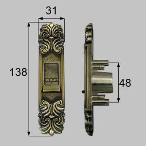 LIXIL/TOSTEM製玄関引戸用召合錠 召合せ内外錠 外化粧板(表カバー) AZWB502|alumidiyshop