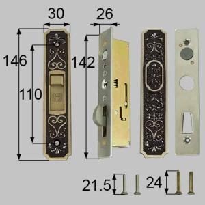 LIXIL/TOSTEM製玄関引戸用召合錠・内錠 引戸召合せ内錠セット AZWB507|alumidiyshop