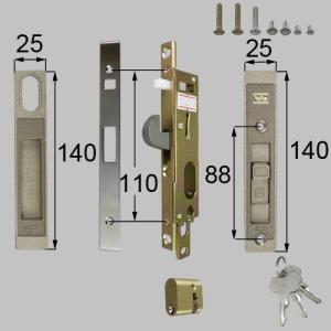 LIXIL/TOSTEM製勝手口引戸用引手錠 勝手口引戸用ロックセット DQAZ900 アルミサッシ|alumidiyshop