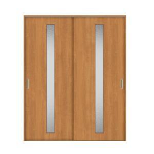 建具 室内引戸 TA Vレール方式 ノンケーシング枠 引違い戸 2枚建/EGA(カスミガラス) 1620 リクシル トステム ドア 交換 リフォーム DIY alumidiyshop
