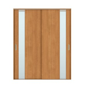 建具 室内引戸 TA Vレール方式 ノンケーシング枠 引違い戸 2枚建/EGT(エッチングガラス) 1620 リクシル トステム ドア 交換 リフォーム DIY alumidiyshop