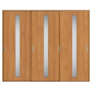 建具 室内引戸 TA Vレール方式 ノンケーシング枠 引違い戸 3枚建/EGA(カスミガラス) 2420 リクシル トステム ドア 交換 リフォーム DIY alumidiyshop