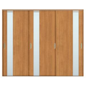 建具 室内引戸 TA Vレール方式 ノンケーシング枠 引違い戸 3枚建/EGT(エッチングガラス) 2420 リクシル トステム ドア 交換 リフォーム DIY alumidiyshop