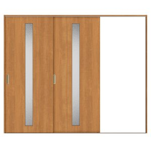 建具 室内引戸 TA Vレール方式 ノンケーシング枠 片引戸 2枚建/EGA(カスミガラス) 2420 リクシル トステム ドア 交換 リフォーム DIY alumidiyshop