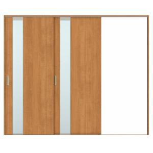 建具 室内引戸 TA Vレール方式 ノンケーシング枠 片引戸 2枚建/EGT(エッチングガラス) 2420 リクシル トステム ドア 交換 リフォーム DIY alumidiyshop