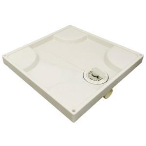 洗濯機パン 640角サイズ アイボリー SP-64 全自動用 排水トラップ別売 ハッポー化学工業(株)|alumidiyshop