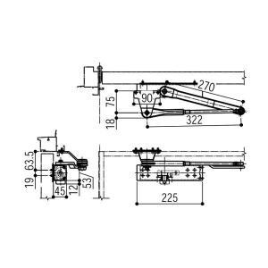 YKKAP ドアクローザ HH-4K-13835|alumidiyshop