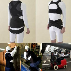 アルファー技研 ルフトベスト Luftvest サイズM 男女兼用 背 腰部サポートウェア インナータイプ|alumidiyshop