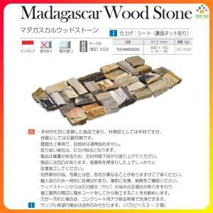壁材 TI2-MWSOOS マダガスカルウッドストーン 横300mm×縦150mm×厚10〜35mm内外 石種:化石(推定チーク材) 1箱 リフォーム DIY|alumidiyshop