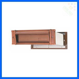 水上金属 メイルシュート No.18 真壁用(壁厚調整範囲95〜140mm) ブラウン |alumidiyshop