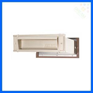 水上金属 メイルシュート No.18 真壁用(壁厚調整範囲95〜140mm) ステン色|alumidiyshop