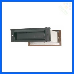 水上金属 メイルシュート No.18 真壁用(壁厚調整範囲95〜140mm) 黒 |alumidiyshop