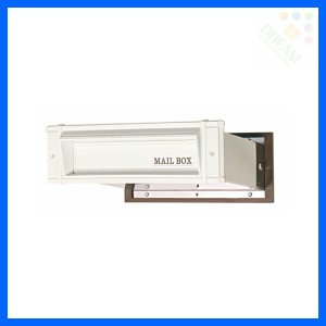 水上金属 メイルシュート No.18 大壁用(壁厚調整範囲141〜190mm) ホワイト|alumidiyshop