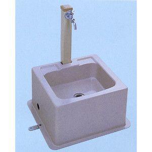 流し台 屋外用シンクユニット ハマネツ SUA-2(2口水栓) [北海道・沖縄・離島・遠隔地への配送要ご相談] alumidiyshop