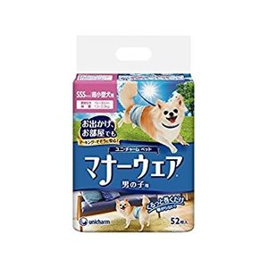 マナーウェア 男の子用 超小型犬用 52枚 ユニ・チャーム (分類:その他ペット用トイレ用品)|am-netshop