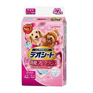 デオシート 消臭フレグランス フローラルシャボンの香り ワイド 42枚 ユニ・チャーム (分類:犬用トイレシート・ペットシート)|am-netshop