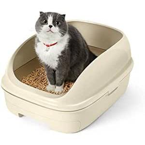 ニャンとも清潔トイレセット オープンタイプ 脱臭・抗菌シート ライトベージュ 花王 (分類:猫用トイレ)|am-netshop