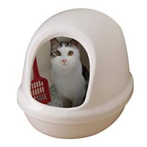 ネコのトイレ フルカバー P-NE-500-F しろ アイリスオーヤマ (分類:猫用トイレ)|am-netshop