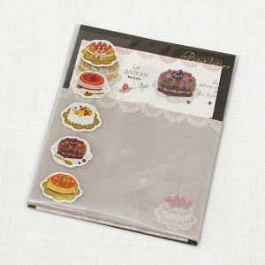 ケーキプチ便箋:10枚とケーキシール:5枚と封筒:5枚 Gakken Sta製|amac-store