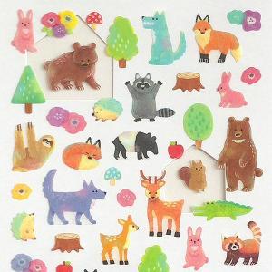 crux/クラックス PETA COLLE シール 森の動物|amac-store