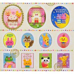 KAMIO JAPAN/カミオジャパン 切手型シール POPアニマル|amac-store