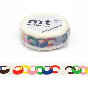 「mt x mina perhonen ring・vivid」マスキングテープ(15mm x 10m : 1 ロール)カモ井加工紙製 amac-store