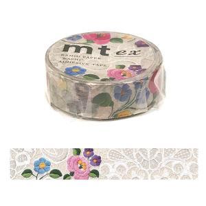 「mt ex レース・カロチャ」マスキングテープ(15mm x 10m : 1 ロール)カモ井加工紙製 amac-store