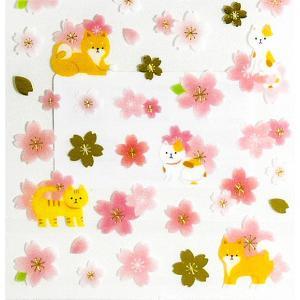 KAMIO JAPAN/カミオジャパン  さくらシール 柴とネコ|amac-store