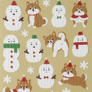 MIND WAVE/マインドウェイブ Winter Selection 雪だるまと柴犬|amac-store