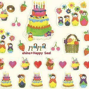 Oriental berry/オリエンタルベリー Happy Smiley Seals マトリョーシカ&スイーツ|amac-store