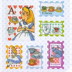 S&C/エス&シー  ルミエール ディズニーシール  切手型アリス|amac-store