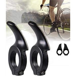 自転車 バーエンドバー 補助ハンドルバー 自転車用グリップ ハンドルバーエンド サイクリング 1ペア