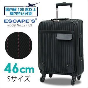 キャリーケース 機内持ち込み可 小型 46cm キャリーバッグ スーツケース ストライプ柄 エスケープ 軽量 シフレ siffler C9712T|amakusakaban
