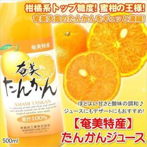 たんかんジュース 500ml たんかん 栄食品 タンカン ジュース ギフト 奄美大島|amami-osima