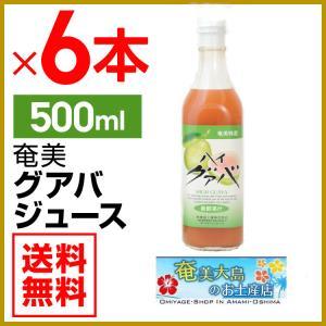 グアバジュース 栄食品 500ml×6本 フルーツジュース 濃縮還元グアバ グァバ 果実ジュース ジュース ギフト 御中元 内祝|amami-osima