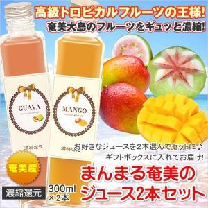 フルーツジュース セット まんまる奄美 ジュース300ml×2本 マンゴー パッションフルーツ グアバ たんかん すもも ギフト ジュース 奄美大島 お土産|amami-osima