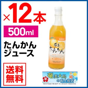 たんかんジュース 500ml×12本セッ たんかん 栄食品 タンカン ジュース ギフト 奄美大島|amami-osima